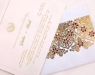Convites de casamento de luxo