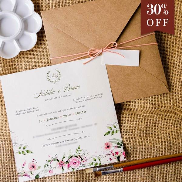 Convite de Casamento Preço