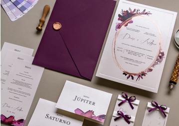 Convite de Casamento Ilustrado - Para Colorir
