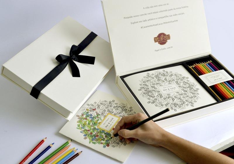 d1cc137fc Convites para padrinhos Ilustrado Convite para colorir