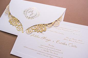 Convites de casamento tradicionais – Adelia