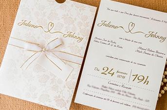Convites de casamento tradicionais – Johnny