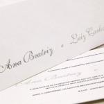 Convite de casamento Platinum –  Ana Beatriz