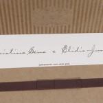 Convite de casamento Platinum – Cristina