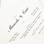 Convite de casamento Platinum – Manoela