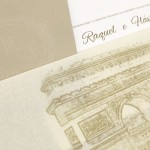 Convite de casamento Platinum – Raquel