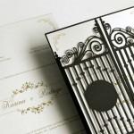 Convite de casamento com corte a laser – Portão