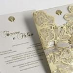 Convites de casamento com corte a laser – Thaeme