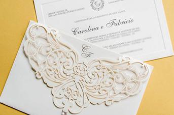 Convites de casamento com corte laser – Fabrício