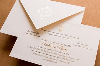 Convites de casamento tradicionais – Izabela
