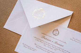 Convites de casamento tradicionais – Ranieri