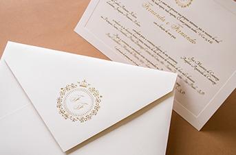 Convites de casamento tradicionais – Fernanda