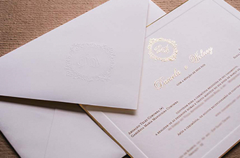 Convites de casamento tradicionais – Wolney