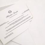 Convite de casamento com pedrarias – Danilo