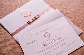 Convites de casamento Premium – Daniel