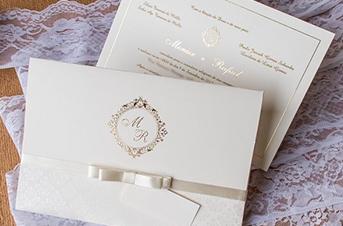 Convites de casamento tradicionais – Monize