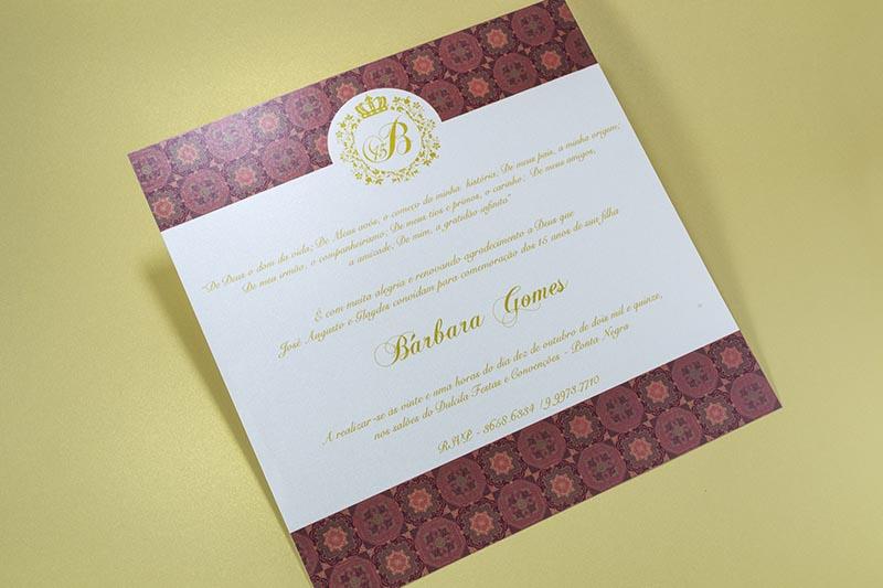 Convite De Aniversario De 15 Anos: Convite Debutantes 15 Anos Bruna