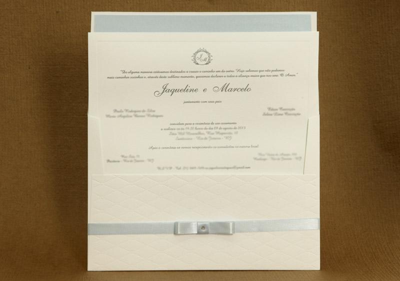Convite de casamento Tradicional - Marcelo