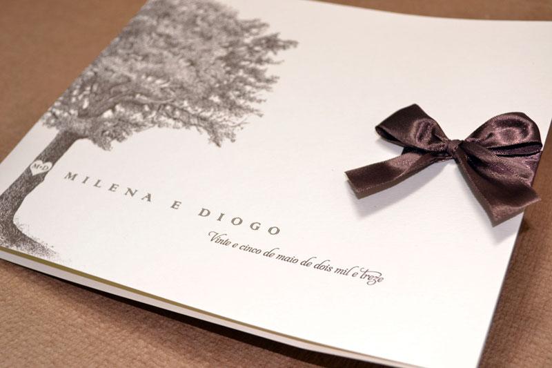 Convite de casamento barato - Árvore