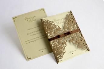 Convites de casamento com corte Laser – Beatriz
