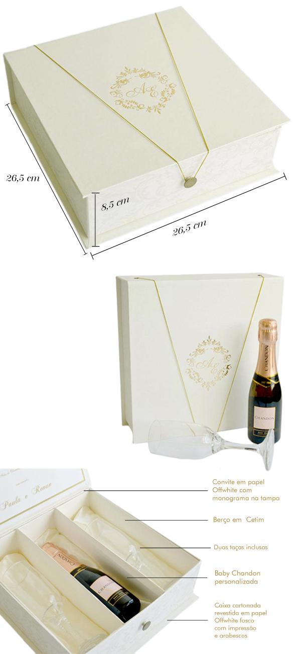 caixa para padrinhos papel e estilo valsa Valsa