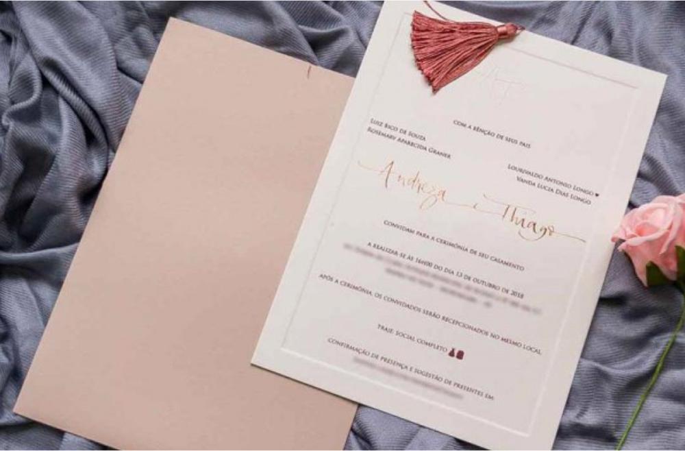 Convites de casamento tradicionais – Andreza