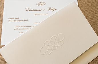 Convites de casamento tradicionais – Christiane