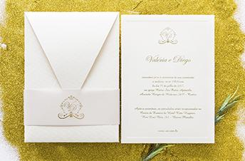 Convites de casamento Tradicionais – Valeria