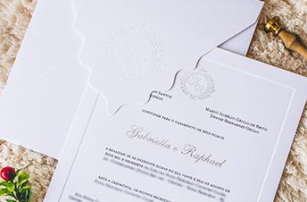 Convites de casamento Tradicionais – Gabriella