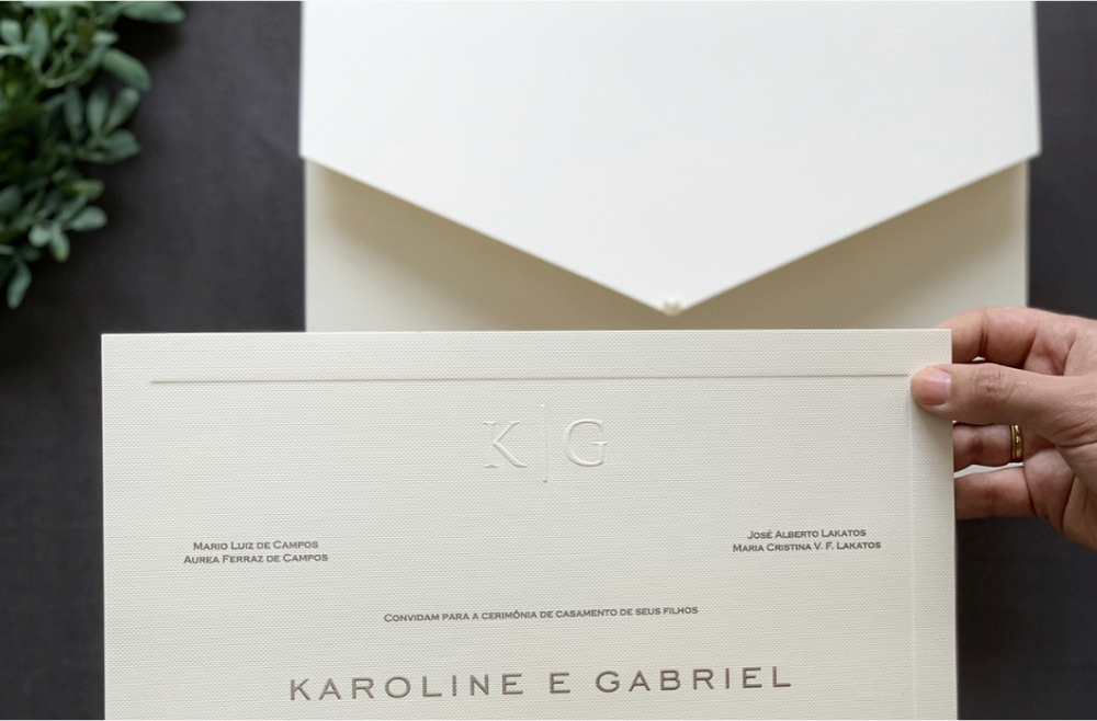 Convites de casamento tradicionais – Karoline