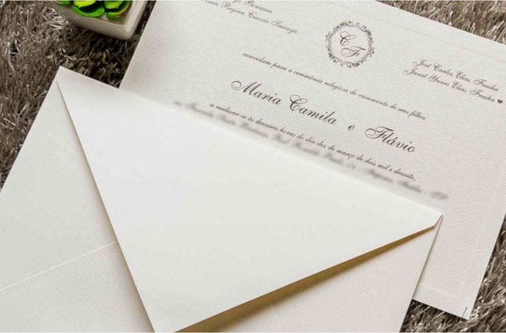 Convites de casamento tradicionais – Nobre