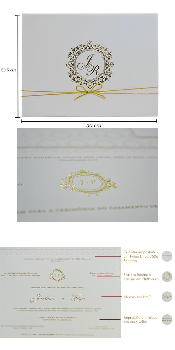Convites de casamento Platinum Fidelix