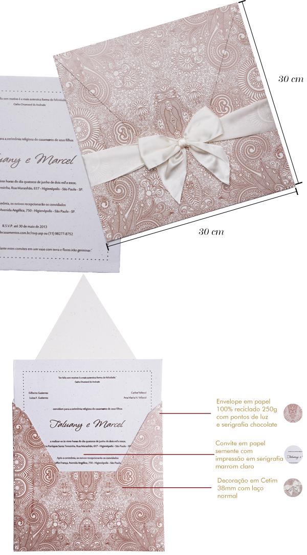 Convites de casamento Premium Talu