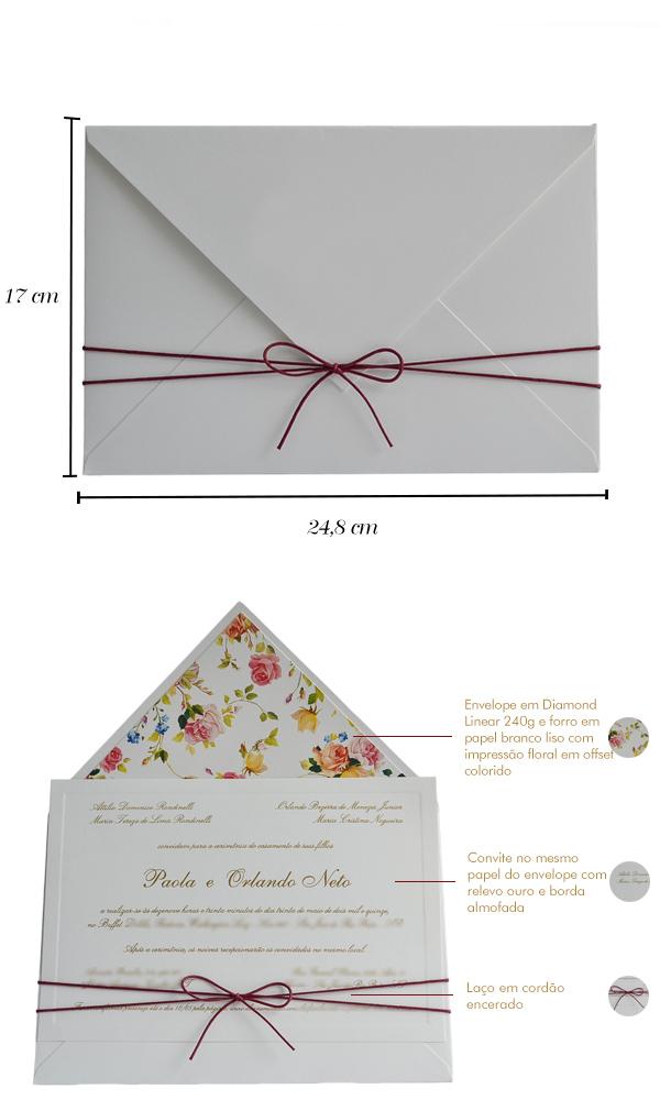 Convites de casamento no campo - Cassio