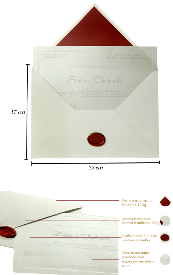 Convites de Casamento moderno - Fabia