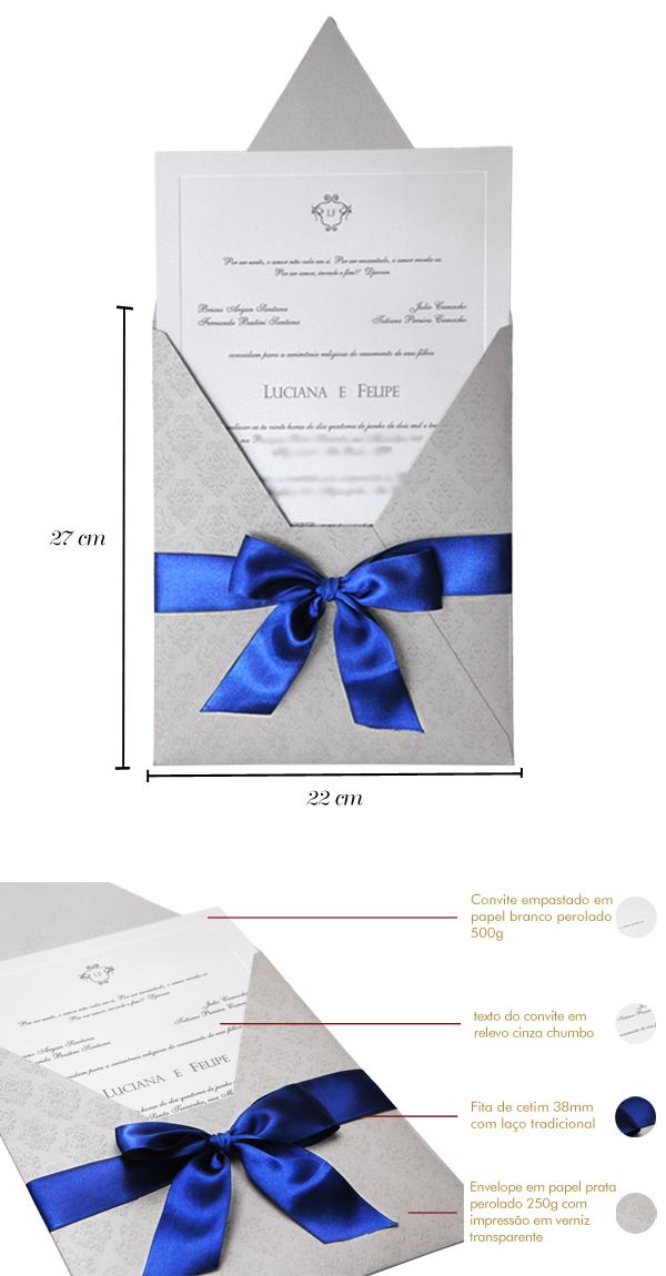 Convites de casamento premium papel e estilo