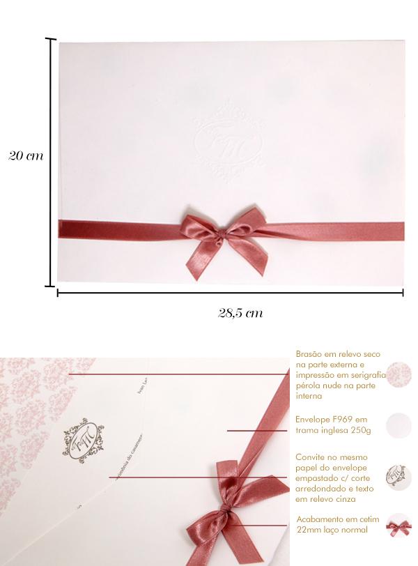 Convites de casamento Platinum Francine