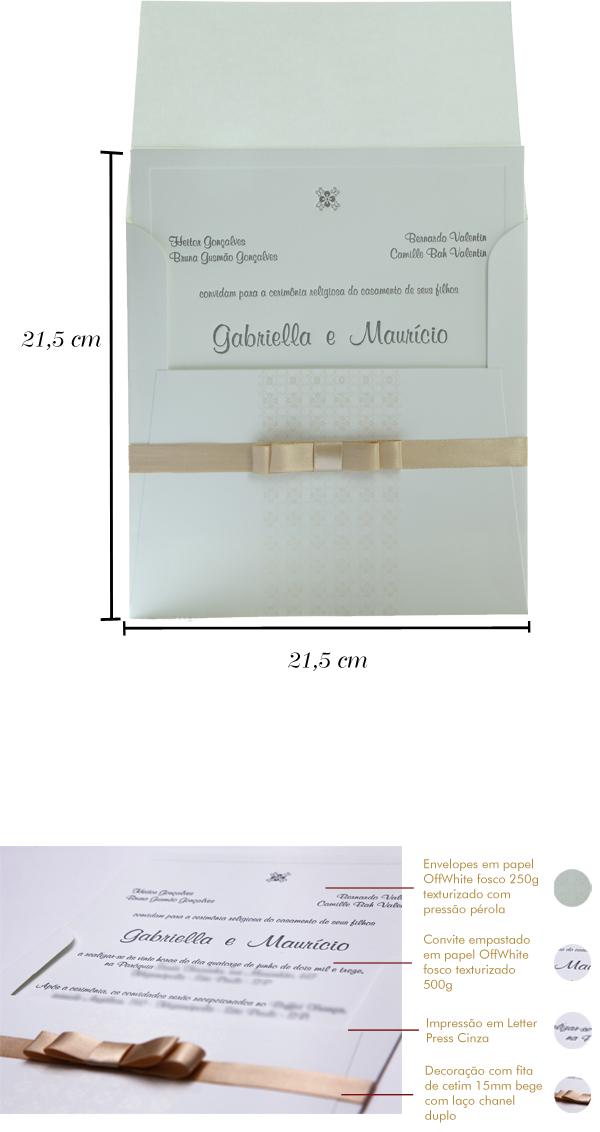 Convites de casamento Premium Gabi