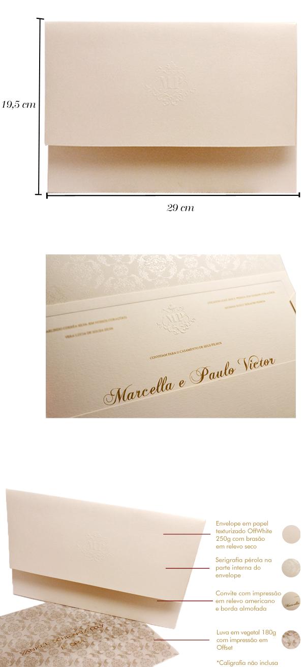 Convites de casamento Premium Marcella