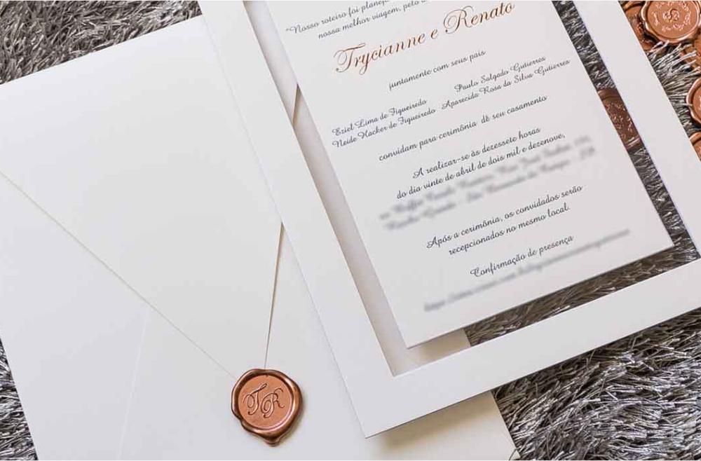 Convites de casamento tradicionais – Renato