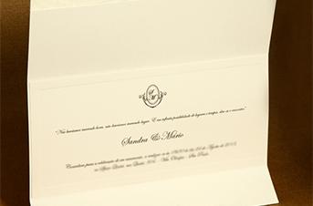 Convites de casamento Tradicionais – Sandra