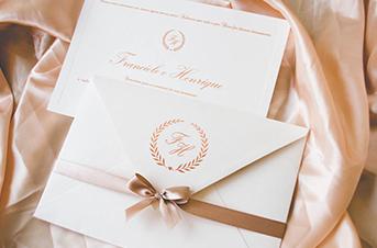 Convites de casamento Tradicionais – Rosa Nude