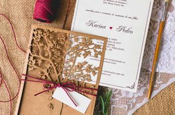 Convites de casamento com corte Laser – Pedro