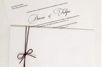 Convites de casamento Rústico - Diana