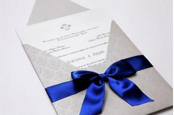 Convites de casamento tradicionais – Luciana
