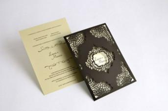 Convites de casamento com corte Laser – Laura