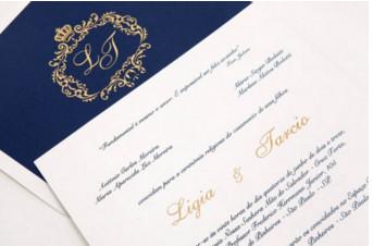 Convites de casamento Platinum – Ligia