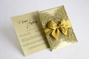 Convites de casamento com corte Laser – Livia