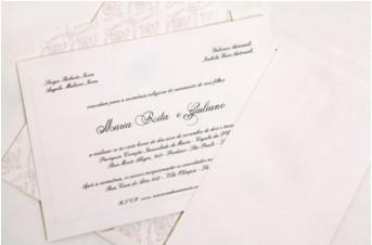 Convites de casamento Platinum – Maria Rita