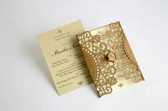 Convites de casamento com corte Laser – Marilia